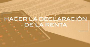 Hacer la declaración de la renta